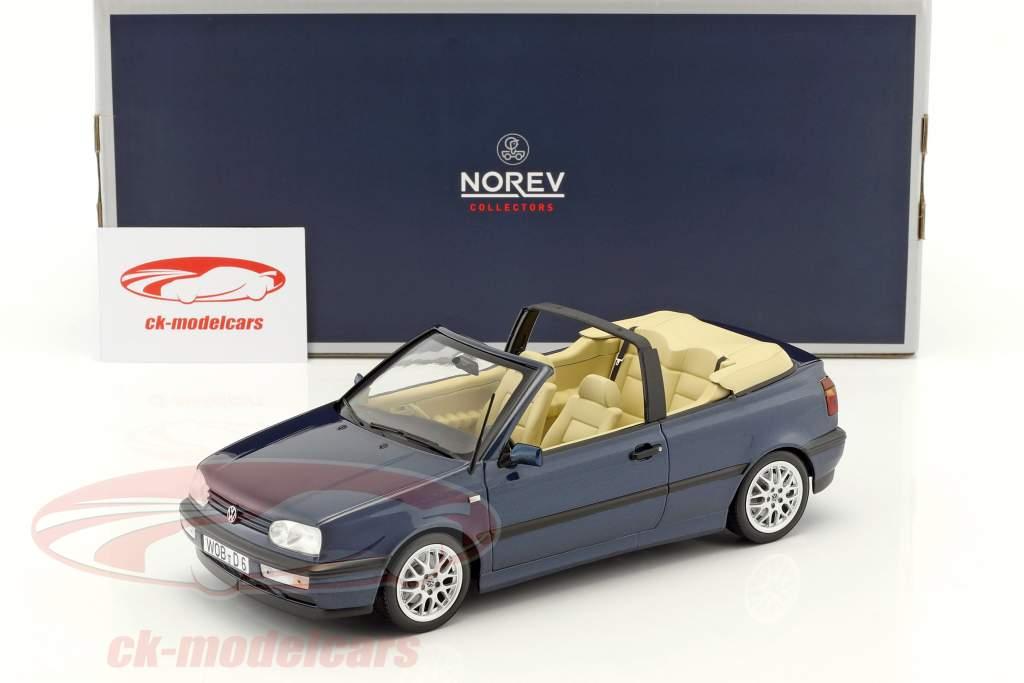 Volkswagen VW Golf 3 Cabriolet year 1995 dark blue metallic 1:18 Norev