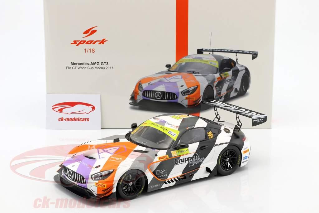 Mercedes-Benz AMG GT3 #999 tercero FIA GT World Cup Macau 2017 Maro Engel 1:18 Spark