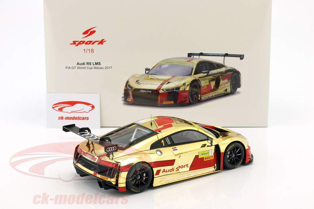 Audi R8 LMS #1 2e FIA GT World Cup Macau 2017 Robin Frijns 1:18 Spark