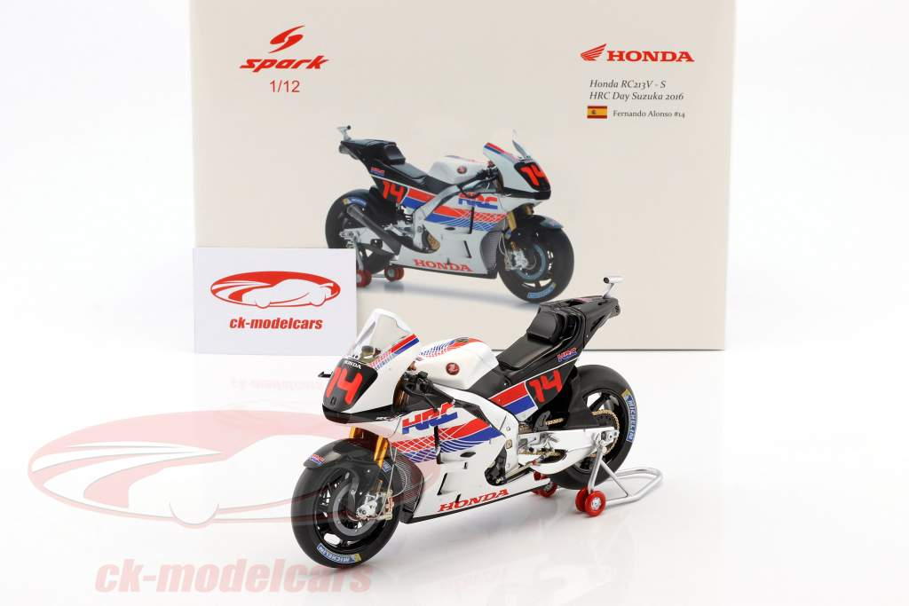 Fernando Alonso Honda RC213V-S #14 Honda Racing Thanks Day Suzuka 2016 1:12 Spark