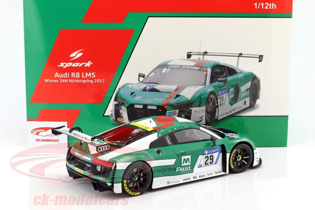 Audi R8 LMS #29 vincitore 24h Nürburgring 2017 De Phillippi, Mies, Winkelhock, Van der Linde 1:12 Spark