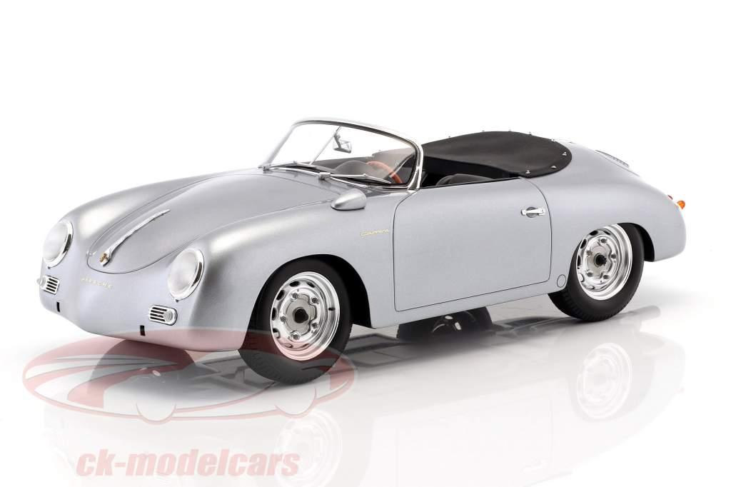 Porsche 356 Carrera Speedster Baujahr 1956 silber 1:12 Spark