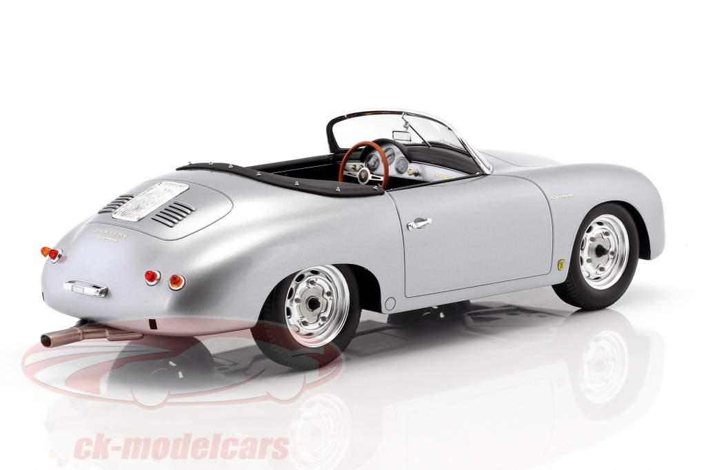 Porsche 356 Carrera Speedster year 1956 silver 1:12 Spark