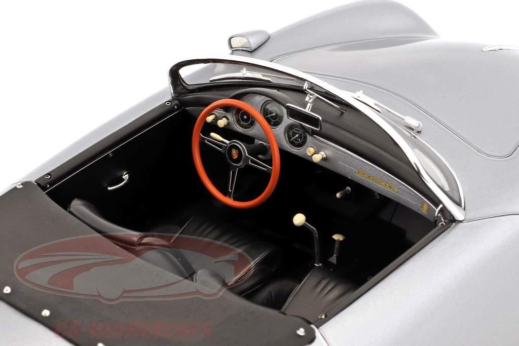 Porsche 356 Carrera Speedster Bouwjaar 1956 zilver 1:12 Spark