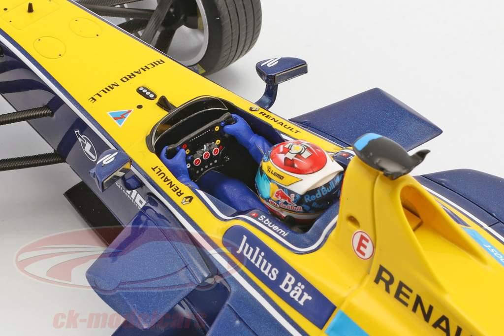 Sebastien Buemi RENAULT Z.E.15 #9 Formel E Champion Saison 2 2015/16 1:18 Spark