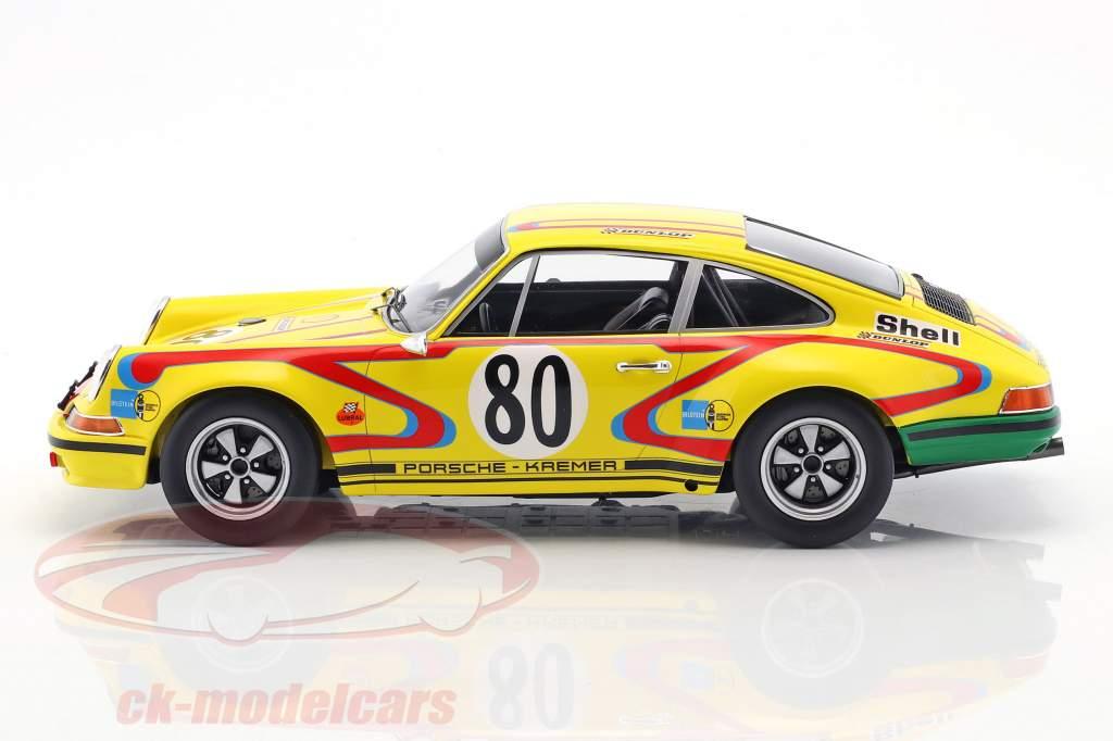 Porsche 911S #80 24h LeMans 1972 Fitzpatrick, Kremer, Bolanos 1:18 Spark