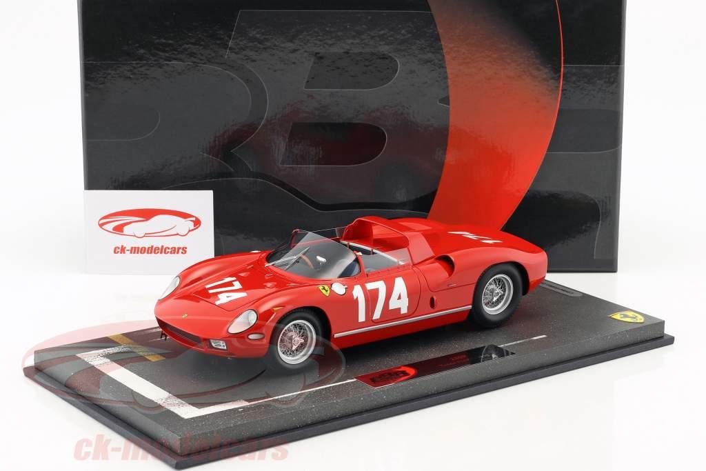 Ferrari 250 P #174 Targa Florio 1963 Parkes, Surtees 1:18 BBR