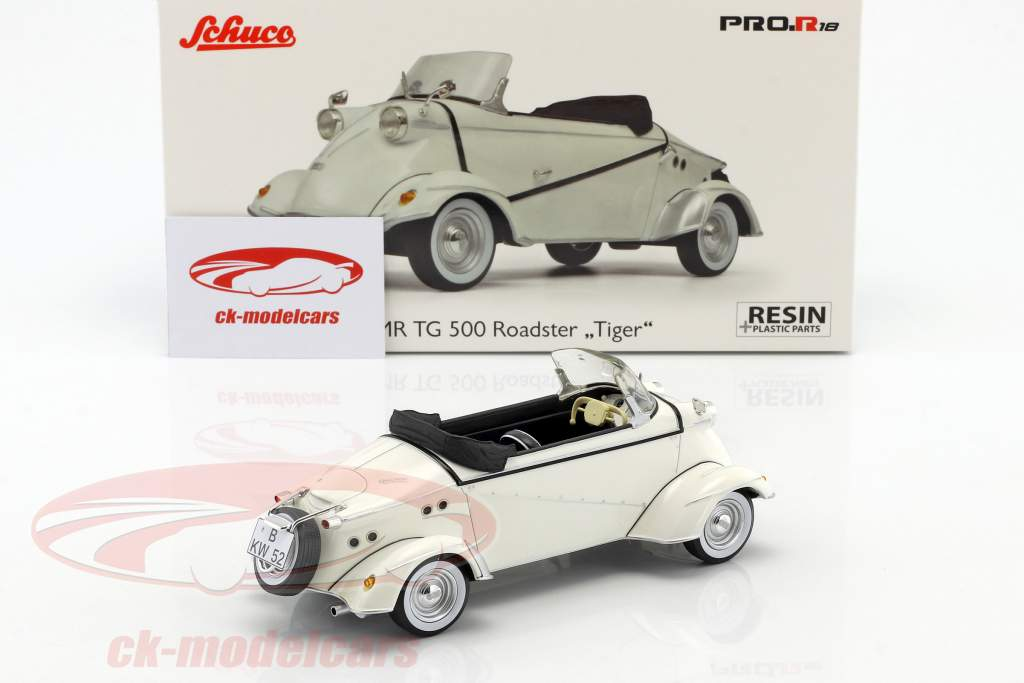FMR TG 500 Roadster Tiger hvid 1:18 Schuco