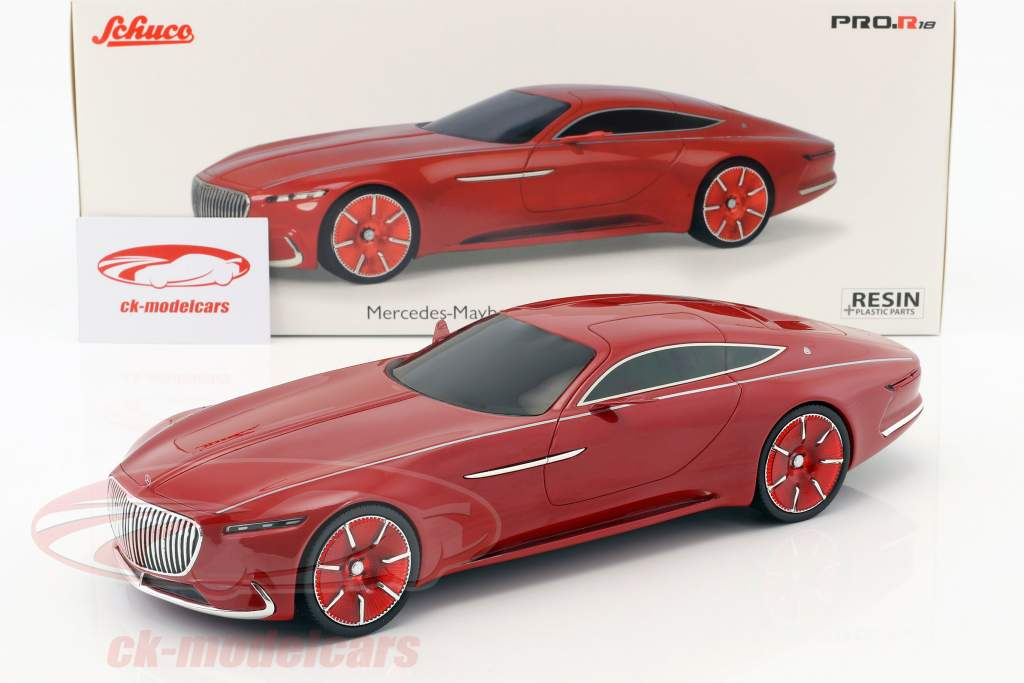 schuco 1:18 mercedes-benz maybach vision 6 coupe rot 450006700