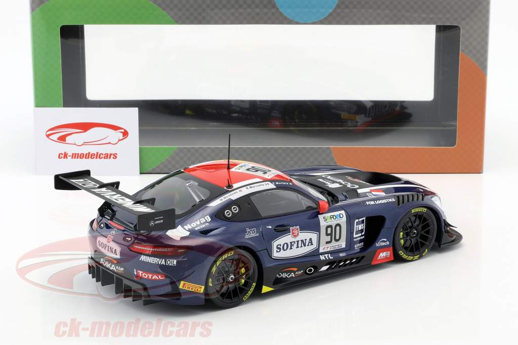 Mercedes-Benz AMG GT3 #90 3e 24h Spa 2017 Mortara, Meadows, Marciello 1:18 Paragon Models
