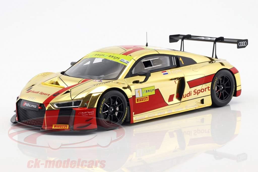 Audi R8 LMS #1 segundo FIA GT World Cup Macau 2017 Robin Frijns 1:18 Spark
