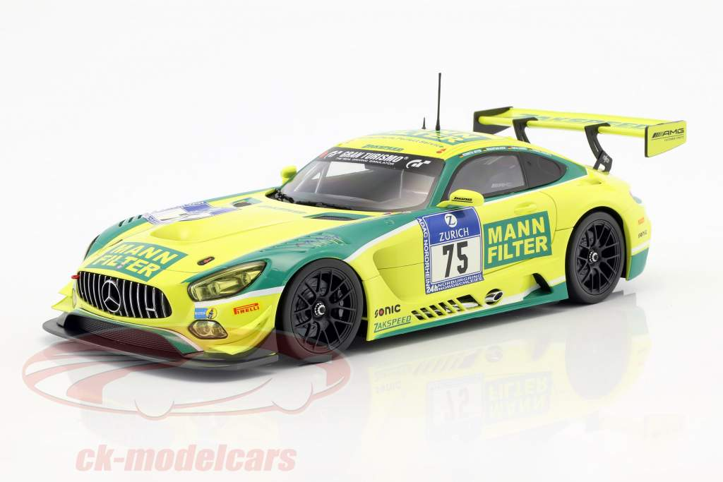 Mercedes-Benz AMG GT3 #75 sexto 24h Nürburgring 2016 MANN-FILTER Team Zakspeed 1:18 Paragon Models