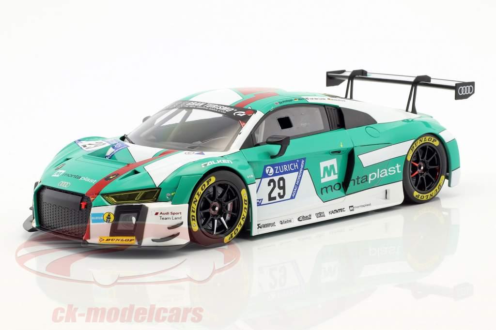 Audi R8 LMS #29 gagnant 24h Nürburgring 2017 Audi Sport Team Land 1:18 Paragon Models