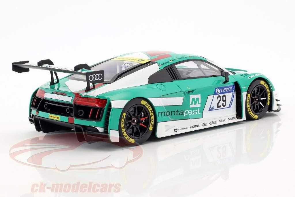 Audi R8 LMS #29 winnaar 24h Nürburgring 2017 Audi Sport Team Land 1:18 Paragon Models