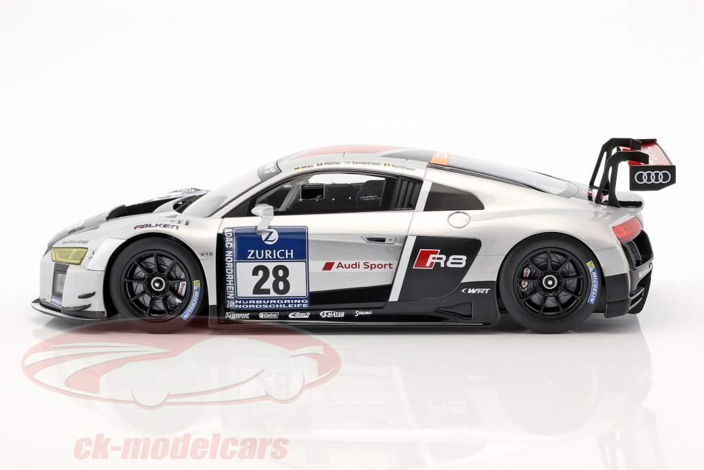 Audi R8 LMS Ultra #28 vincitore 24h Nürburgring 2015 Audi Sport Team WRT 1:18 Paragon Models