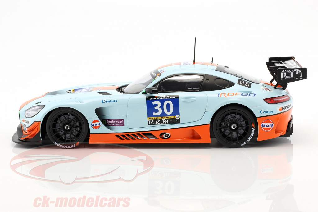 Mercedes-Benz AMG GT3 #30 2 ° 24h Paul Ricard 2016 Team Ram Racing 1:18 Paragon Models