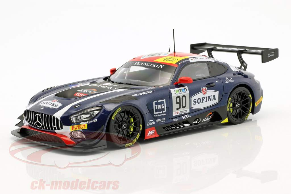Mercedes-Benz AMG GT3 #90 3rd 24h Spa 2017 Mortara, Meadows, Marciello 1:18 Paragon Models
