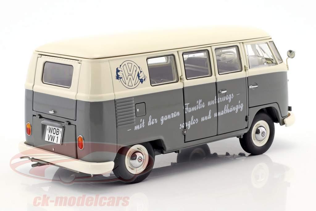 Volkswagen VW T1b Bus grå / hvid 1:18 Schuco