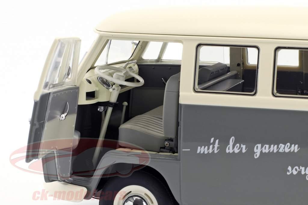 Volkswagen VW T1b Bus grau / weiß 1:18 Schuco