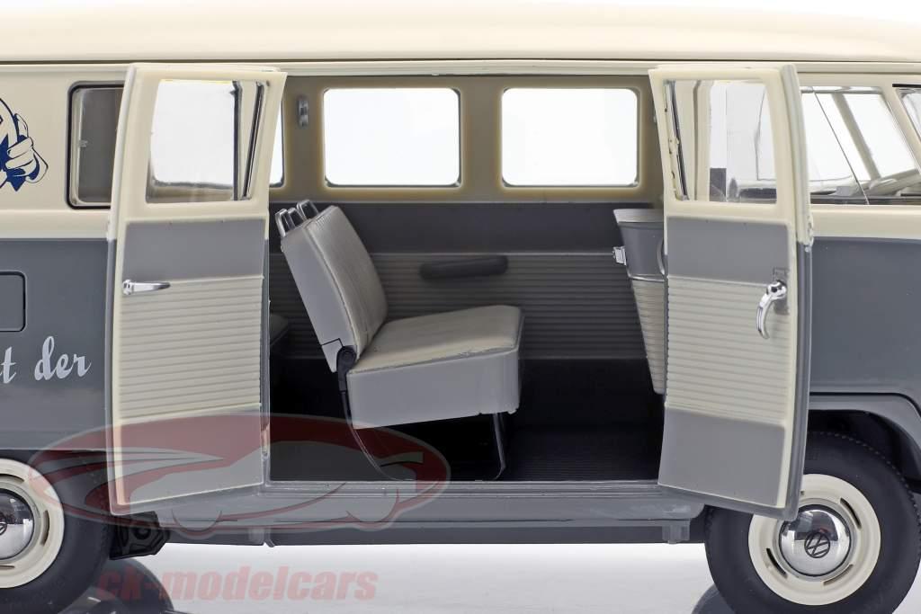 Volkswagen VW T1b Bus grigio / bianco 1:18 Schuco