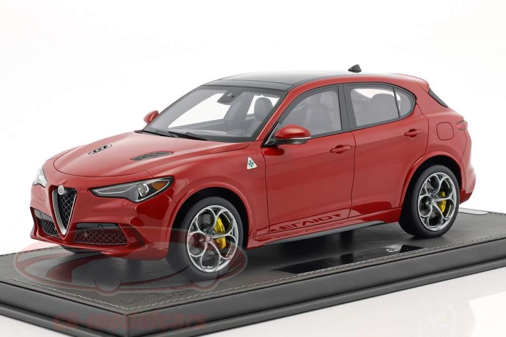 Alfa Romeo Stelvio Quadrifoglio Opførselsår 2016 Alfa rød 1:18 BBR