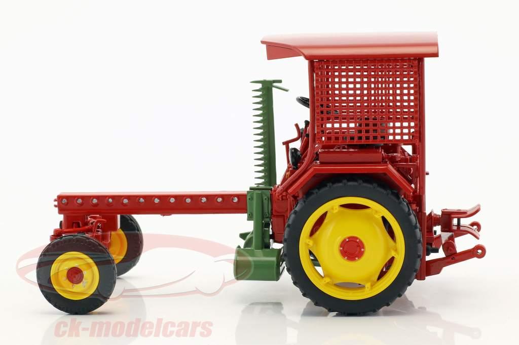 Fortschritt RS09-GT 124 trattore con Cuttor bar rosso 1:32 Schuco