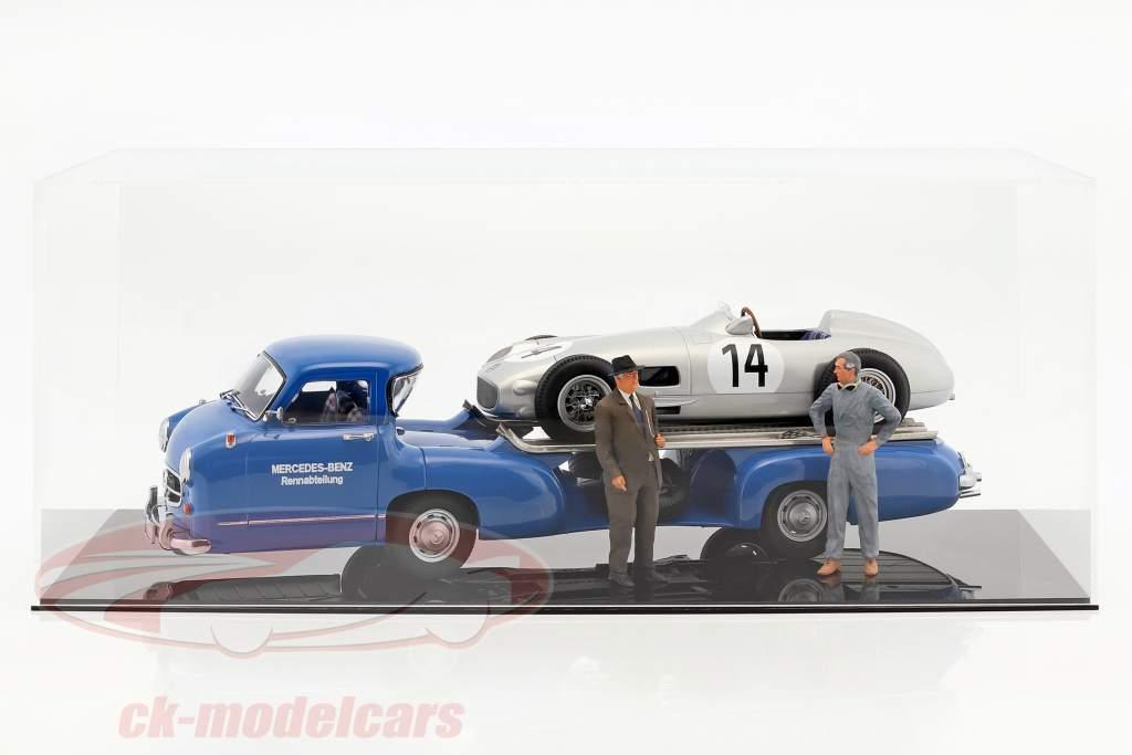 "Mercedes-Benz Renntransporter ""il blu miracolo"" anno 1955 blu 1:18 iScale"