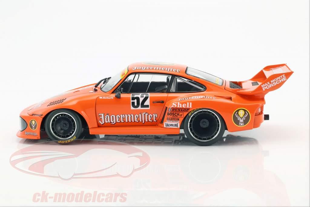 Porsche 935 #52 ganador Bergischer Löwe Zolder DRM 1977 Manfred Schurti 1:18 Norev