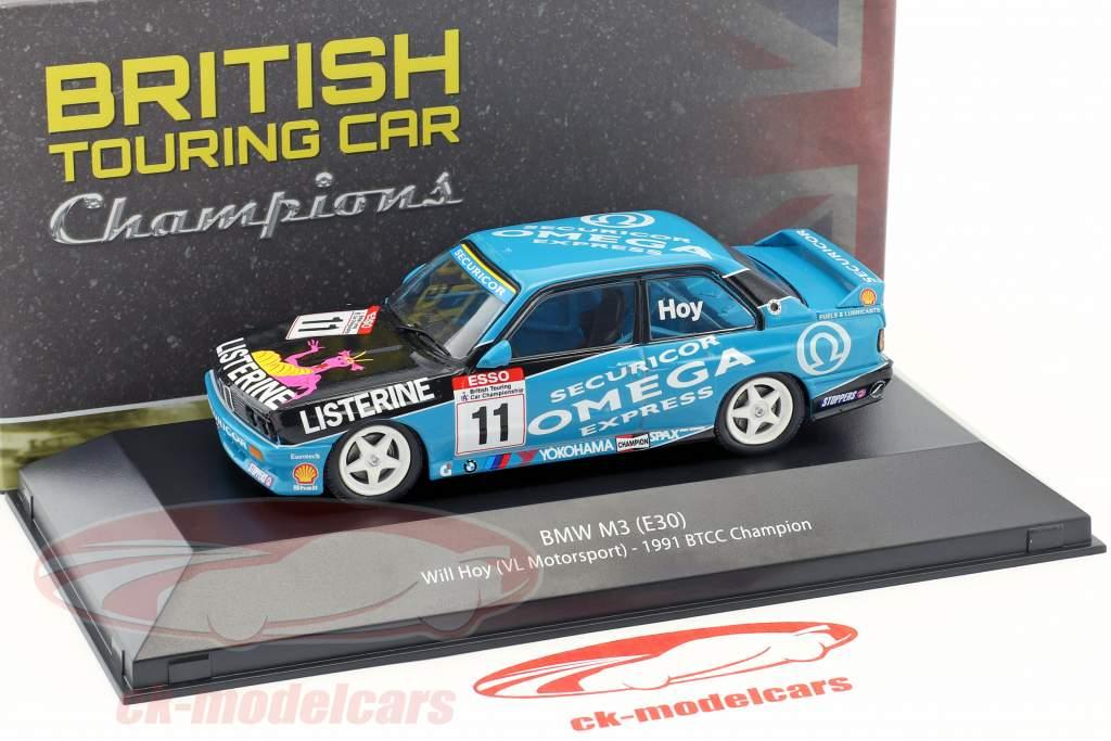 Will Hoy BMW M3 (E30) #11 BTCC campeón 1991 1:43 Atlas