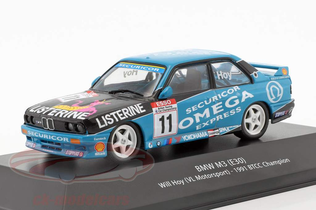 Will Hoy BMW M3 (E30) #11 BTCC campeão 1991 1:43 Atlas