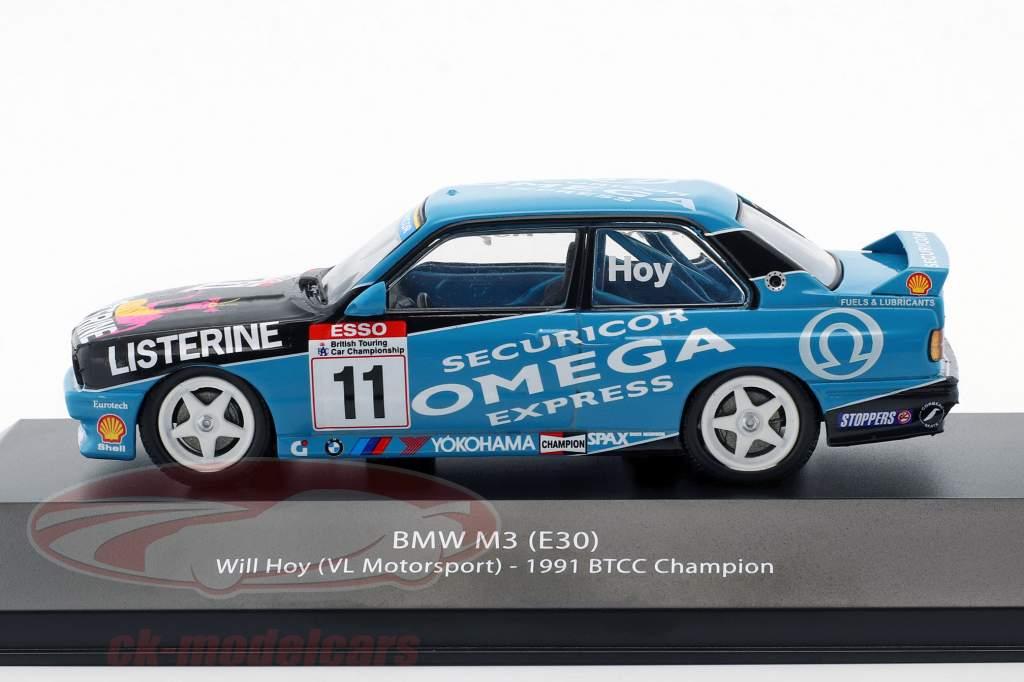 Will Hoy BMW M3 (E30) #11 BTCC campione 1991 1:43 Atlas