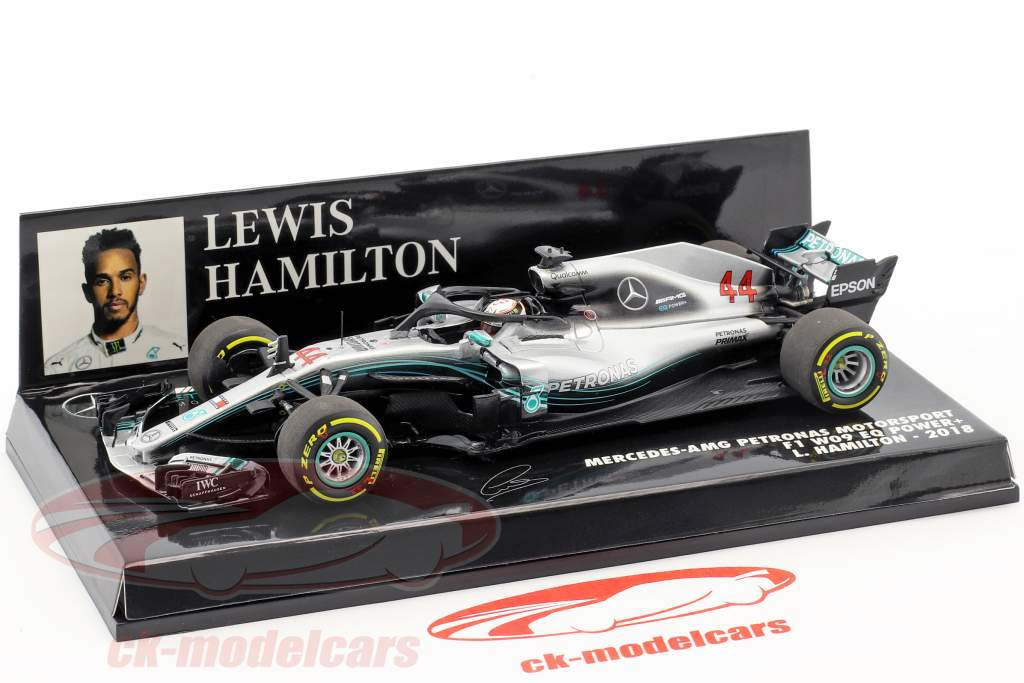 Lewis Hamilton Mercedes-AMG F1 W09 EQ Power  #44 World Champion Formel 1 2018 1:43 Minichamps