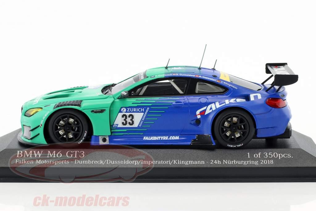 BMW M6 GT3 #33 24h Nürburgring 2018 Dumbreck, Dusseldorp, Imperatori, Klingmann 1:43 Minichamps