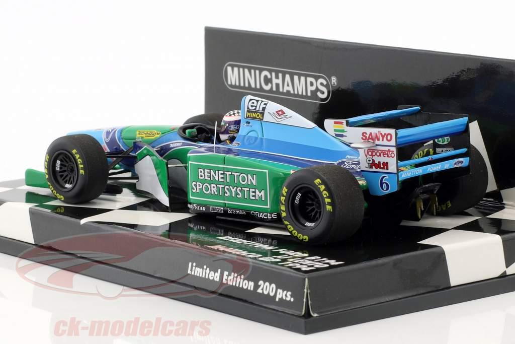J.J. Lehto Benetton B194 #6 Monaco GP formule 1 1:43 Minichamps