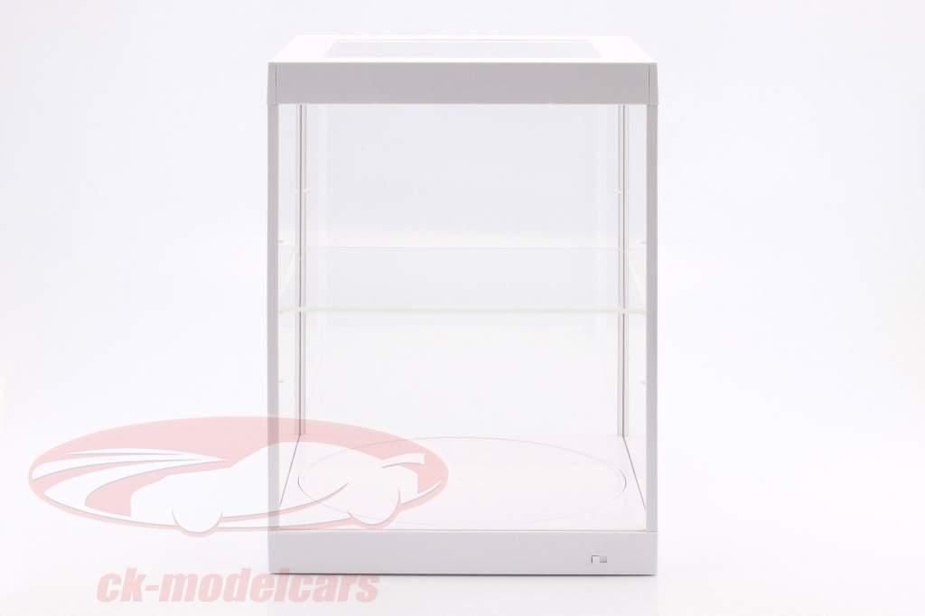 enkeltværelse udstillingsvindue og Rotary bord til modelcars i skala 1:18 hvid Triple9