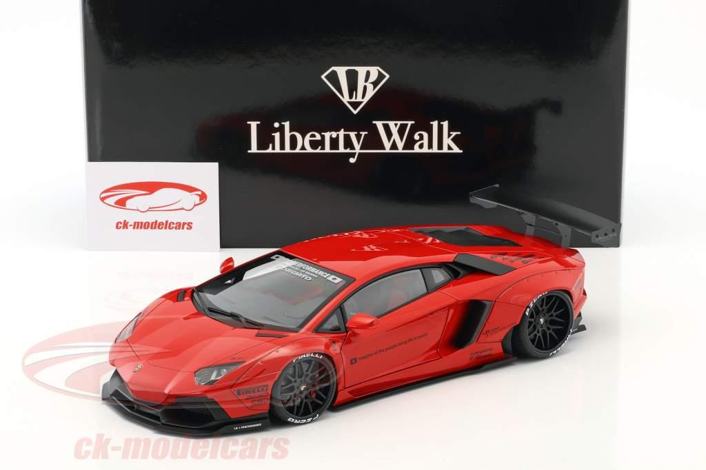 Lamborghini Aventador Liberty Walk LB-Works Opførselsår 2015 rød 1:18 AUTOart