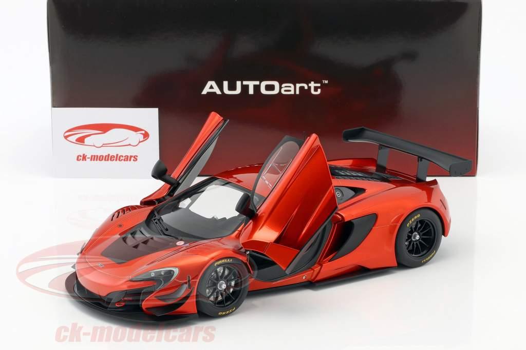 McLaren 650S GT3 année de construction 2017 volcan orange / noir 1:18 AUTOart