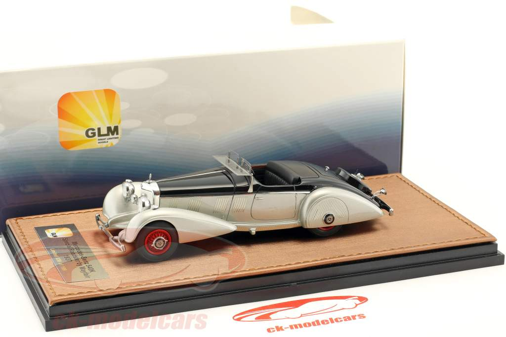 Great Lighting Models 143 Mercedes Benz 540K Spezial Roadster Mayfair Year 1937 Silver Black GLM207502 Model Car 002075020006