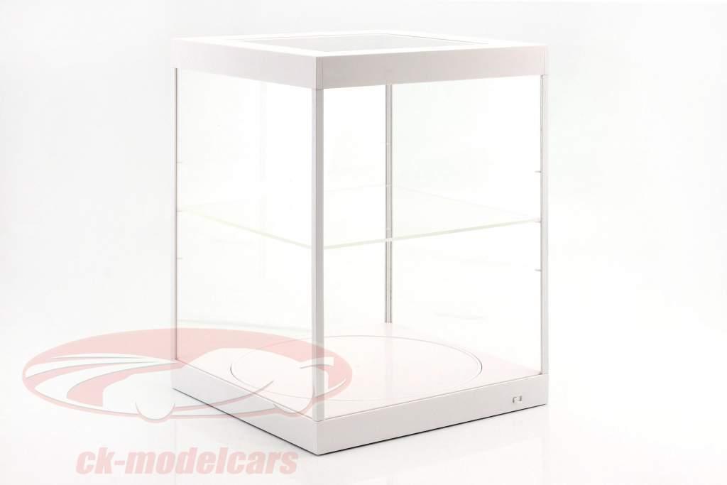 Einzelvitrine mit LED-Beleuchtung und Drehteller für Modellautos im Maßstab 1:18 weiß Triple9