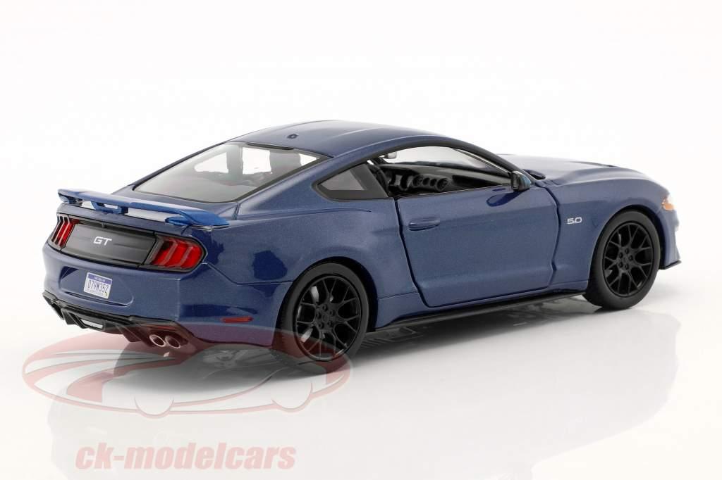 Ford Mustang GT 5.0 V8 anno di costruzione 2018 blu metallico 1:24 MotorMax