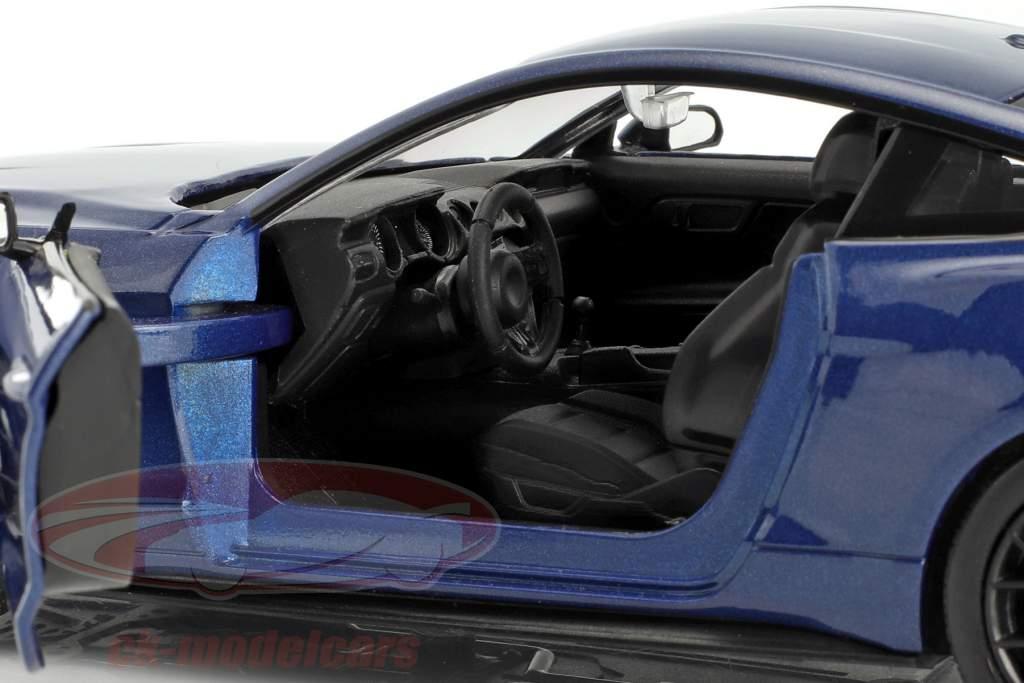 Ford Mustang GT 5.0 V8 year 2018 blue metallic 1:24 MotorMax