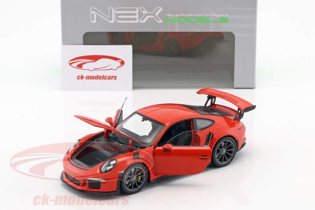 Porsche 911 (991) GT3 RS ano de construção 2016 laranja 1:24 Welly