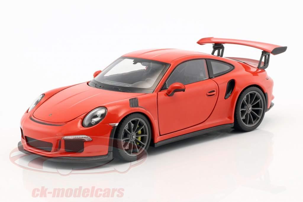 Porsche 911 (991) GT3 RS Baujahr 2016 orange 1:24 Welly
