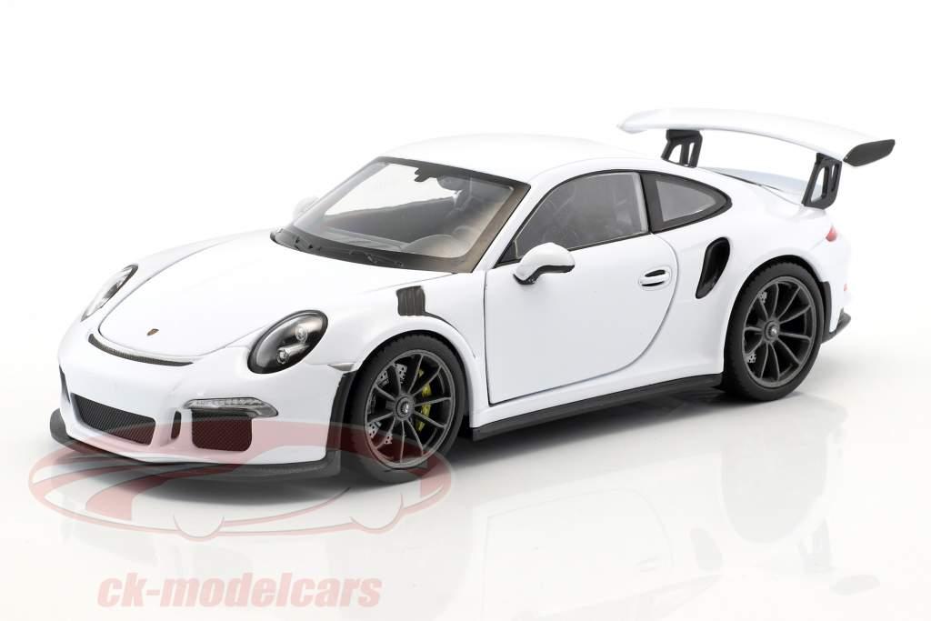 Porsche 911 (991) GT3 RS année de construction 2016 blanc 1:24 Welly