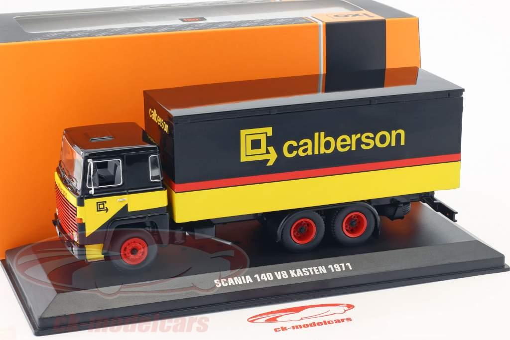 Scania 140 V8 LKW Calberson año de construcción 1971 amarillo / negro / rojo 1:43 Ixo