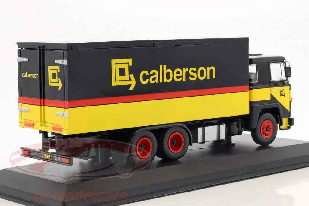 Scania 140 V8 LKW Calberson Baujahr 1971 gelb / schwarz / rot 1:43 Ixo