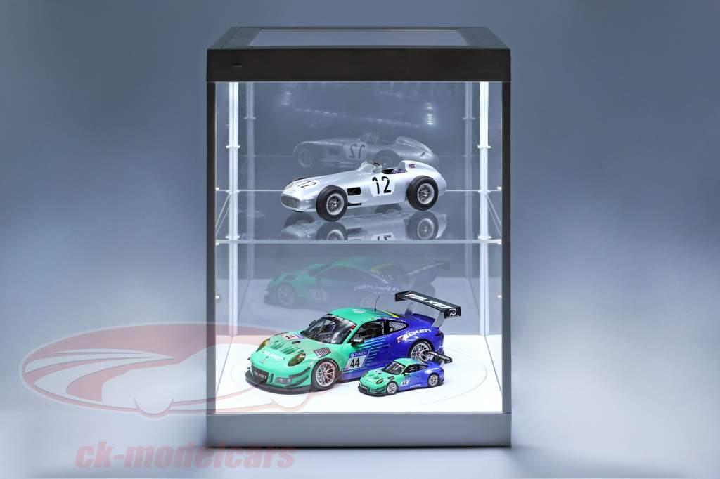 unique vitrine et rotatif table pour modelcars en échelle 1:18 blanc Triple9