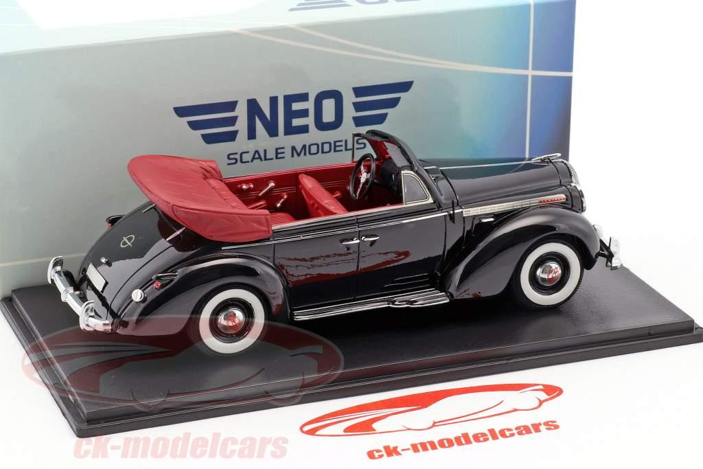 Opel Admiral convertible année de construction 1938 noir 1:38 Neo
