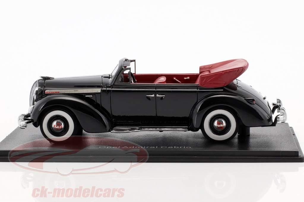 Opel Admiral converteerbaar Bouwjaar 1938 zwart 1:38 Neo