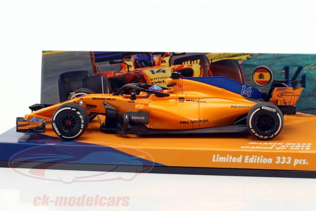 Fernando Alonso McLaren MCL33 #14 español GP fórmula 1 2018 1:43 Minichamps